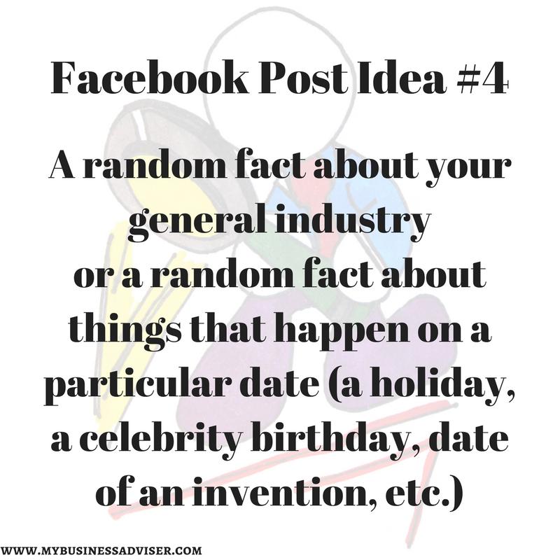 Facebook Post Idea #4