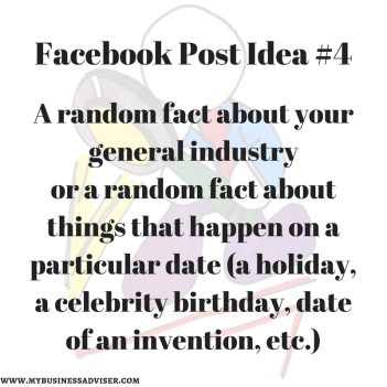 Facebook Post Idea #4