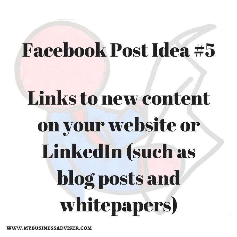 Facebook Post Idea #5