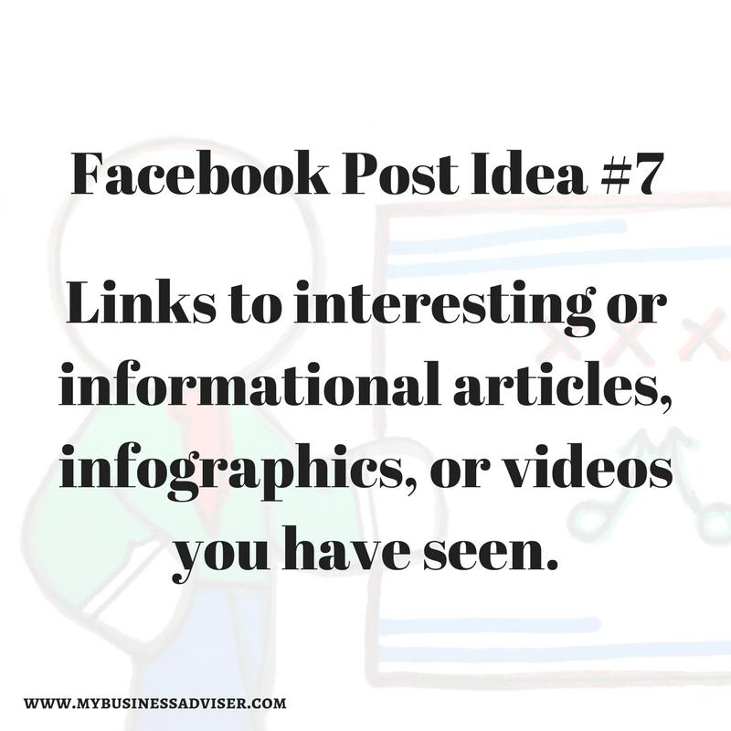 Facebook Post Idea #7