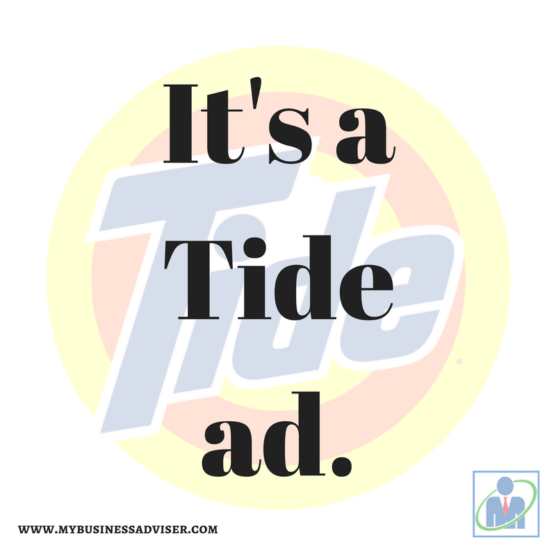 It's a Tide ad.
